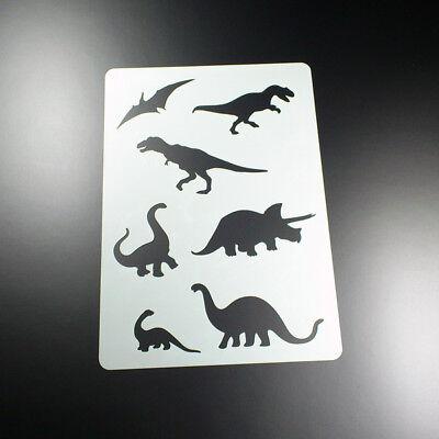 A4 Schablone Dinosaurier T-Rex 7 Saurier - BA408 Dinosaurier Schablonen