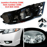 Honda Civic 09-11 4 Door CLEAR Fog Driving Lights Kit+Switch