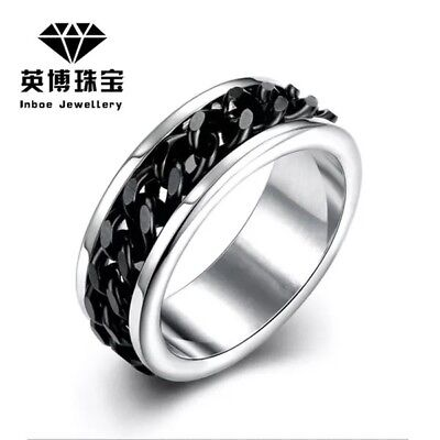 - 6MM Stainless Steel Men Women Wedding Engagement Anniversary Ring Band Size 5-15