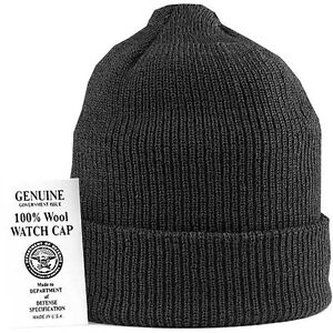 Genuine USN Navy Black Wool Watch Cap Hat - FREE SHIPPING