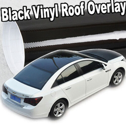 Gloss Solid Black Out Vinyl Overlay Moon Roof Tint Top Cover Film 60 x 53 C08