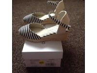 New wedge shoes, size 4 from Dorothy Perkins