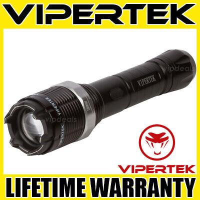 Vipertek Stun Gun Vts-t01 - 550bv Heavy Duty Rechargeable Led Flashlight