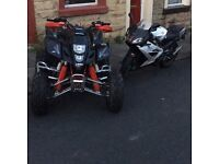 Suzuki ltz 400 black edition we red frame fully road legal will Px