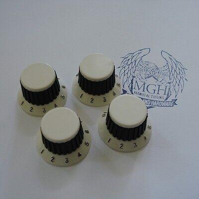 Vintage Potiknopf Hutform - SG / LP - Typ - creme weiß