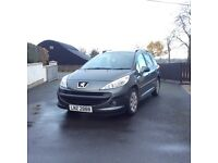 2008 Peugeot 207 *Full years mot, Tiptronic/automatic transmission, Roof bars*