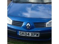 RENAULT MEGANE 2004 ,NEW ENGINE 10,000 ago
