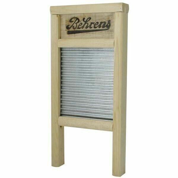 "Behrens Large Galvanized Wood and Metal Washboard BWBG12 12.5"" x 24.5"""