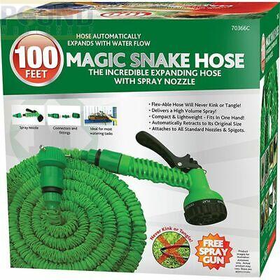 200/150ft100ft/50ft Magic Snake Hose Pipe MAGIC EXPANDABLE Green UK FreePost