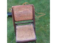 5 wooden back chairs folding patio or house good wood not damaged