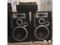 Jamo D265 speakers, amplifier and DVD player