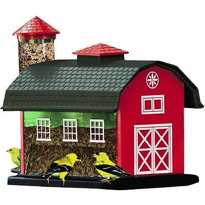 Red Barn Bird Feeder Combo Hanging Pole Mount Bird FEEDER SONGBIRD FARM