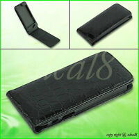 Vertical Magnetic Flip PU Leather Cover Case ID Card Holder For