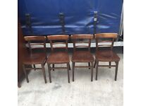 Fantastic set of 4 solid vintage barbers/bar chairs