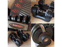 Bodymax Selectabell Dumbbell Pair 5KG - 32.5KG Adjustable Weights, dumbell, dumbel, dumbbells