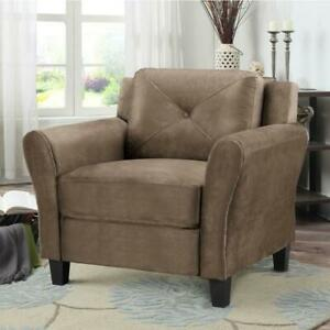 LifeStyle Solutions CCHRFKS1M26BRRA  Hartford Transitional Micro Suede Accent Chair  - Light Brown (Open Box) Markham / York Region Toronto (GTA) Preview