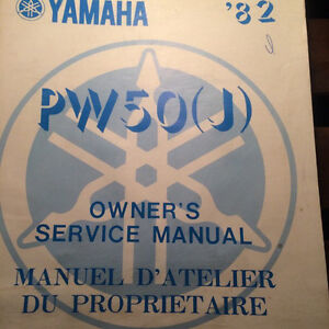 1982 Yamaha Factory PW50J Owners Service Manual
