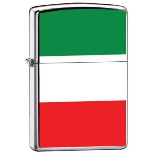 Zippo Lighter - Flag of Italy High Polish Chrome - ZCI007972