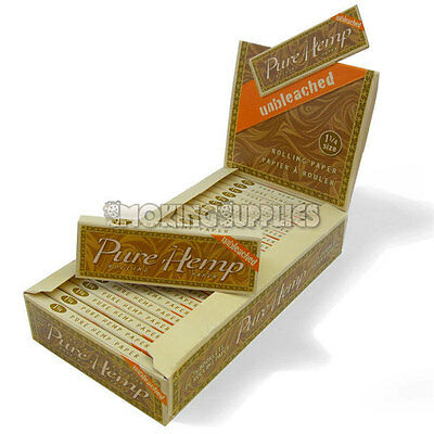 Pure Hemp Unbleached 1¼ Size Rolling Papers Multi Quantity Listing
