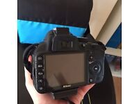 Excellent condition rarely used Nikon D3100 SLR Camera for sale with 18-55 lens