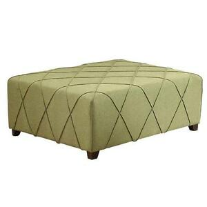 GREY LIME GREEN OTTOMAN WITH FOUR PILLOWS CLEARANCE EVENT REG $499 NOW $199