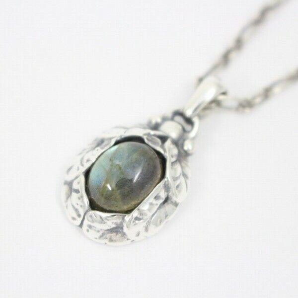 Georg Jensen Necklace Pendant 1997 Sterling Silver Denmark Jewelry #13698