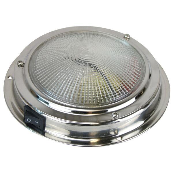 12V STAINLESS STEEL 30-P4 LED SS CABIN DOME LIGHT Marine//Boat//Caravan//RV Lamp