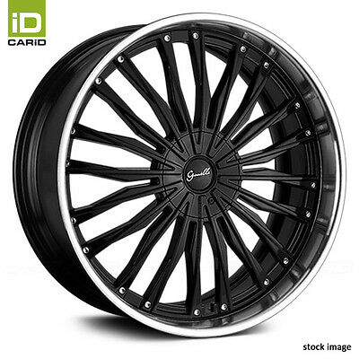 GIANELLE Gloss Black w Machined Lip Wheels 24x10, +30, 6x139.7 Bolt Pattern