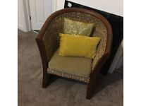 Wooden chair with cushion