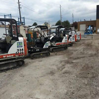 BOBCAT SKIDSTEERS & EXCAVATORS AVAILABLE FOR RENT !!!!!!!!