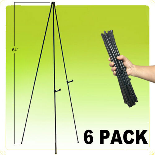 """64"""" Instant Easel Self Setting Display Portable Quick Folding - 6 PACK"""