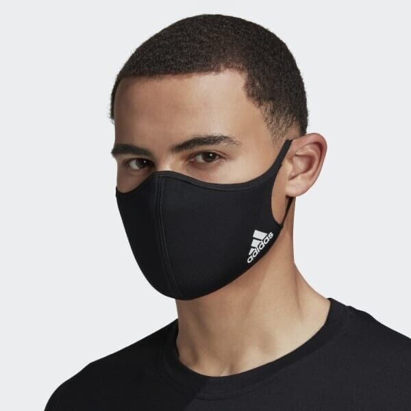 Adidas Black Face Mask Cover Protection Adult Size M/L 1 PC