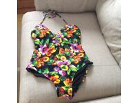 Pretty F&F multicoloured swim suit - never been worn