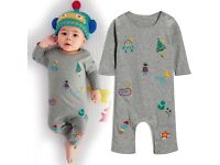 Next 3-6 robot baby grow and hat