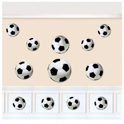 Value Pack Cut Outs (Value Pack of 12 Football / Soccer Themed Cut-Outs Party Decorations - New )
