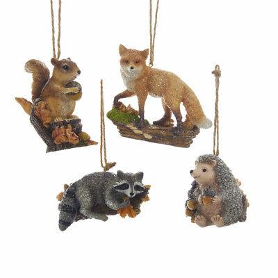 Forest Animal on Log Ornament](Animal Ornaments)