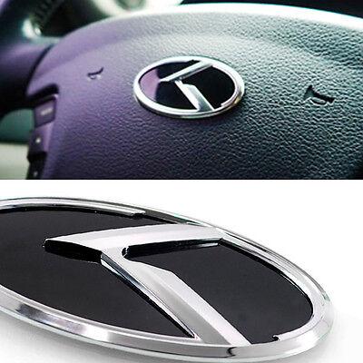 3D K Logo Steering Wheel Emblem Horn Cap Emblem Badge For KIA 2016 - 2019 Niro