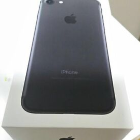 Iphone 7 Matt black 128gb unlocked new