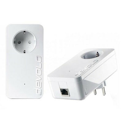 Devolo dLAN 1200+ Starter Kit 1200 Mbit/s Powerline Powerlan Steckdose LAN