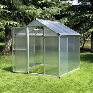 6' x 6' Serre de Jardin Structure en Aluminium