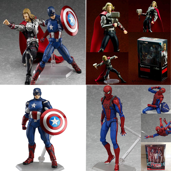 Marvel The Avengers Hulk //Thor//Spiderman//Captain//Ironman Figma Action Figure