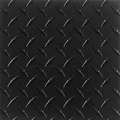 .063 Matte Black Powdercoated Aluminum Diamond Plate Sheet 4 X 96