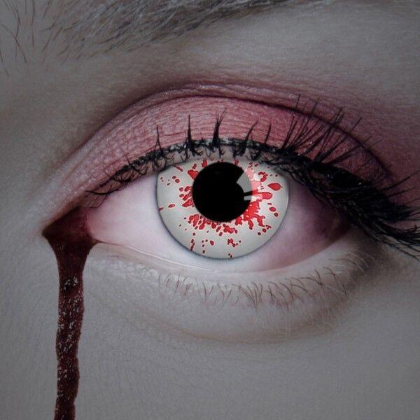 aricona Horror Kontaktlinsen farbige deckende Linsen Halloween Verkleidung Blut
