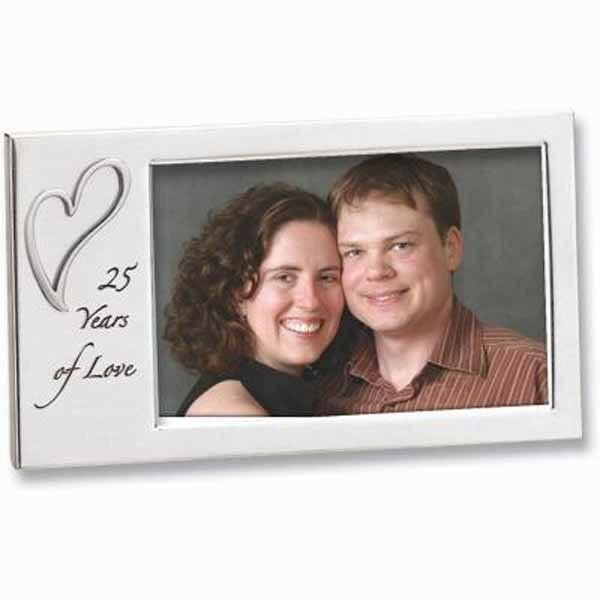 25 Years of Love Anniversary Photo Frame NIB