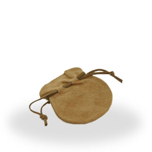 Wholesale Lot Beige Suede Draw String Pouch Set of 100