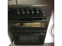 Beko 60 cm black glass top electric cooker with a warranty