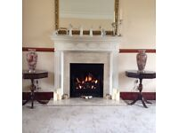 Fire Surround with Real Marble inset and Hearth
