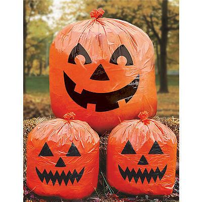 3 x Laubsack Kürbis Halloween Dekoration Laubsäcke Dekosäcke neu Deko Garten