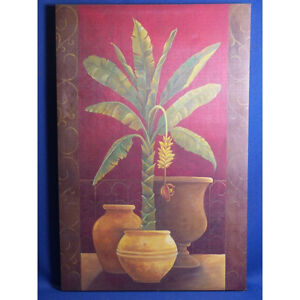 Potted Palm Print on Canvas, 23.5 x 35.5