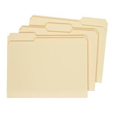 Office Depot Brand Interior File Folders Letter Size 13-cut Tab Manila Box